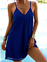Women\'s Strap Dress Short Mini Dress Light Blue Red Wine Green Black Navy Blue Sleeveless Solid Color Spring Summer V Neck Sexy 2021 S M L XL 2XL 3XL / Holiday / Beach