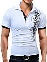 Men\'s Golf Shirt Tennis Shirt Graphic Print Short Sleeve Casual Tops Cotton Basic Shirt Collar White Black
