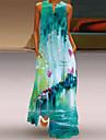 Women\'s Swing Dress Maxi long Dress Blue Yellow Green Orange White Black Sleeveless Floral Print Spring Summer Elegant Casual 2021 S M L XL XXL XXXL 4XL 5XL