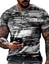 Men\'s Tee T shirt Shirt 3D Print Graphic Prints Graffiti Print Short Sleeve Daily Tops Cotton Casual Designer Big and Tall Round Neck Blue Green Gray / Summer