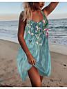 Women\'s Strap Dress Short Mini Dress Blue Sleeveless Floral Print Print Spring Summer Round Neck Casual Holiday 2021 S M L XL XXL