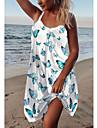 damremsklänning kort miniklänning lila grön vit ärmlös fjäril animal print sommar u hals avslappnad semester strand går ut lös 2021 s m l xl xxl