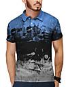 Pánské Golfová košile Tenisové tričko 3D tisk Pivo Tlačítko dolů Krátký rukáv ulice Topy Na běžné nošení Módní Vinobraní Klasické Vodní modrá / Sport