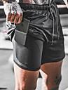 Férfi Rövidnadrágok Sportruházat Gyors szárítás Nedvességelvezető Légáteresztő Szabadtéri Sport Rövidnadrágok Hétvége Tornaterem Nadrág Szöveg Térdhossz 3D nyomtatás Sárga álcázás Szürke Khakizöld