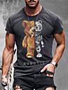 Pánské Unisex Trička Tričko Košile 3D tisk Komiks 3D Větší velikosti Zero two 3D Krátký rukáv Ležérní Topy Základní Designové Velký a vysoký Kulatý Šedá / Léto