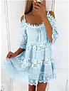 Women\'s Strap Dress Short Mini Dress Light Blue White Yellow Blushing Pink Black Light Green Sleeveless Solid Color Summer Casual 2021 S M L XL XXL XXXL 4XL 5XL