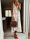 Women\'s Strap Dress Midi Dress Photo Color Sleeveless Pattern Summer Casual 2021 S M L XL XXL XXXL