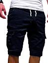 férfi nadrág rugalmas derék alkalmi rövidnadrág férfiaknak fél nadrág pamut húzózsinóros derék térdig érő nadrág zsebbel nagy magas-zöld-m