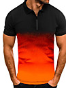 Men\'s Golf Shirt Tennis Shirt Other Prints Gradient Print Short Sleeve Casual Tops Simple Casual Army Green Orange White / Summer