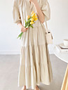 Women\'s Loose Maxi long Dress Black Apricot Half Sleeve Solid Color Spring Summer Casual Loose 2021 M L