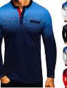 Bărbați Cămașă de golf Gradiant Buton în jos Imprimeu Manșon Lung Stradă Topuri Bumbac Îmbrăcăminte sportivă Casual Comfortabil Gri Alb Negru