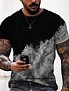 Tee T-shirt Chemise Homme Unisexe 3D effet Imprimes Photos Des nuages Imprime Manches Courtes Quotidien Vacances Standard Polyester Simple Designer Grand et grand Col Ras du Cou / Ete