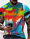 Муж. Универсальные Футболки Футболка Рубашка 3D печать Графические принты Граффити С принтом С короткими рукавами Повседневные Верхушки На каждый день Оригинальный рисунок Большой и высокий
