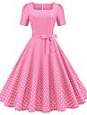 Women\'s A Line Dress Midi Dress Blue Yellow Blushing Pink Black Red Short Sleeve Dot Summer Vintage 2021 S M L XL XXL