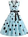 Women\'s A Line Dress Midi Dress Light Blue Golden Blue Blushing Pink White Red Navy Blue Apricot Sleeveless Print Summer Vintage 2021 S M L XL XXL