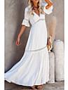 Women\'s Swing Dress Maxi long Dress Half Sleeve Solid Color Spring Summer V Neck Elegant & Luxurious 2021 S M L XL XXL