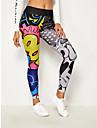 Women\'s High Waist Yoga Pants Tights Leggings Butt Lift Moisture Wicking Rainbow Elastane Sports Activewear Stretchy