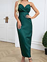 Women\'s Sheath Dress Maxi long Dress Green Sleeveless Solid Color Ruched Spring Summer Strapless Elegant Sexy 2021 S M L XL XXL