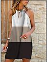 Women\'s A Line Dress Short Mini Dress Black Sleeveless Stripes Summer Casual 2021 S M L XL 2XL 3XL