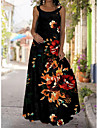 2021 summer new style tie-dye 3d printed dress bohemian strapless strapless mopping dress