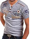 Per uomo maglietta Camicia Pop art Alfabetico Con stampe Manica corta Quotidiano Top A V Grigio Bianco Nero / Estate