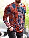 Per uomo maglietta Stampa 3D Teschi Stampa 3D Manica lunga Quotidiano Top Di tendenza Vinaccia Rosa Blu turchese