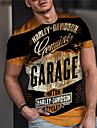Herr Unisex T-shirts T-shirt Skjorta 3D-tryck Grafiska tryck Bokstav Tryck Kortärmad Dagligen Blast Ledigt Designer Stor och hög Svart