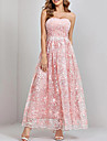 Women\'s Swing Dress Maxi long Dress Blushing Pink Sleeveless Floral Backless Lace Summer Strapless Work Sexy 2021 S M L XL