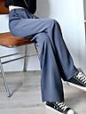 Dámské Základní Šik ven Pohodlné Denní Víkend Kalhoty Kalhoty Bez vzoru Plná délka Kapsy Šedá Černá