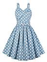 Women\'s A Line Dress Short Mini Dress Light Blue Sleeveless Dot Summer Sexy 2021 S M L XL XXL