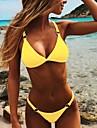 Dámské Bikiny Plavky Üçgen Žlutá Oranžová Bílá Černá Plavky Plavky Roztomilý / Podprsenka s vycpávkami