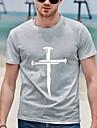 Pánské Unisex Trička Tričko Košile Horká ražba Grafické tisky Haç Větší velikosti Zero two Tisk Krátký rukáv Ležérní Topy Bavlna Základní Designové Velký a vysoký Kulatý Šedá Bílá Světle šedá / Léto