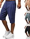Pánské Čínské vzory Lidový styl Venkovní Kalhoty chinos šortky capri Volné Domů Denní Kalhoty Jednobarevné Po kotníky Šňůrky Šedozelená Khaki Černá Námořnická modř / Léto