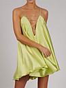 Women\'s Strap Dress Short Mini Dress Purple Light Green Light Blue Sleeveless Solid Color Summer V Neck Casual Sexy Holiday 2021 S M L XL