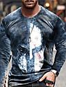 בגדי ריקוד גברים יוניסקס טי שירטס חולצה קצרה חולצה הדפסת תלת מימד הדפסים גרפיים מסכה דפוס שרוול ארוך יומי צמרות יום יומי מעצב גדול וגבוה פול צהוב אפור