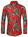 Men\'s Shirt Other Prints Graphic Long Sleeve Casual Tops Fashion Black Red