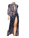 여성용 스윙 드레스 맥시 드레스 퍼플 긴 소매 도트 스플리트 할로우 아웃 봄 여름 라운드 넥 섹시 2021 S M L XL XXL 3XL 4XL 5XL