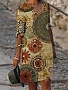 Női A vonalú ruha Térdig érő ruha Medence Sárga Szürke Lóhere Féhosszú Virágos Geometriai Mértani Nyomtatott Tavasz Nyár V-alakú Alkalmi Szabadság 2021 S M L XL XXL 3 XL 4 XL 5 XL