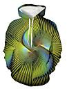 Herre Pullover-hættetrøje Grafisk Hætte Daglig I-byen-tøj 3D-udskrivning Basale Afslappet Hættetrøjer Sweatshirts Grøn