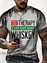 Men\'s Tee T shirt Shirt 3D Print Graphic Cross Letter Plus Size Short Sleeve Casual Tops Basic Designer Slim Fit Big and Tall Light gray Dark Gray