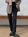 Dámské Základní Šik ven Pohodlné Denní Víkend Kalhoty chinos Kalhoty Bez vzoru Po kotníky Kapsy Elastický pas Černá Béžová