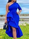 Women\'s A Line Dress Midi Dress Blue Sleeveless Solid Color Summer Sexy Gentle 2021 S M L XL XXL