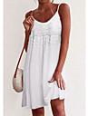 Γυναικεία Φόρεμα σε γραμμή Α Μίνι φόρεμα Θαλασσί Κόκκινο Κρασί Λευκό Μαύρο Αμάνικο Συμπαγές Χρώμα Άνοιξη Καλοκαίρι Λεπτές Τιράντες Καθημερινό Μοντέρνα 2021 Τ M L XL XXL 3XL