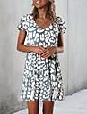 Women\'s A Line Dress Short Mini Dress White Short Sleeve Dot Spring Summer Casual Ruffle Holiday 2021 S M L XL XXL