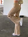 Dámské Základní Módní Pohodlné Kalhoty Bavlna Ležérní Denní Kalhoty Bez vzoru Plná délka Široké nohavice Kapsy Khaki