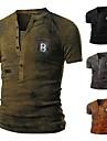 Per uomo Magliette maglietta Camicia Rendering Manica corta Casuale Top Leggero Di tendenza Classico A V Grigio Cachi Verde / Estate