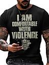 Men\'s Tee T shirt Shirt 3D Print Graphic Skull Plus Size Short Sleeve Casual Tops Basic Designer Slim Fit Big and Tall Black / Red Black / White Gray / Summer