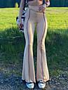 Dámské Základní Módní Pohodlné Kalhoty chinos Štíhlý Ležérní Denní Kalhoty Proužek Plná délka Široké nohavice Elastický pas Trávová zelená Černá Hnědá Béžová