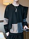 Муж. Толстовка Контрастных цветов Повседневные Спортивная одежда На каждый день Толстовки Толстовки 1 2 3