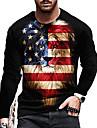 Herre Unisex T-Shirts T-shirt Skjorte 3D-udskrivning Grafiske tryk Løve Trykt mønster Langærmet Daglig Toppe Afslappet Designer Stor og høj Sort